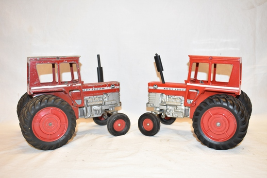 Two ERTL Massey Ferguson 1/16 Scale Tractor Toys