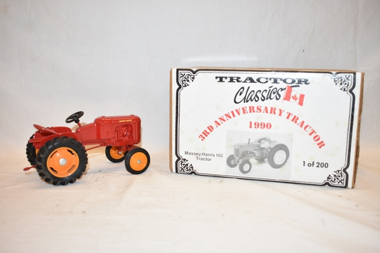 Two Massey Harris 1/16 Scale Tractor Toys