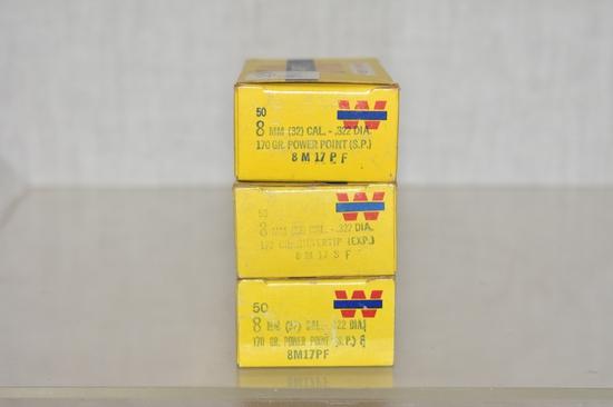 Bullets. 8 mm, 150 Rds.