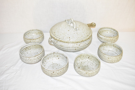 Bunny Mc Bride Soup Tureen Pottery Set