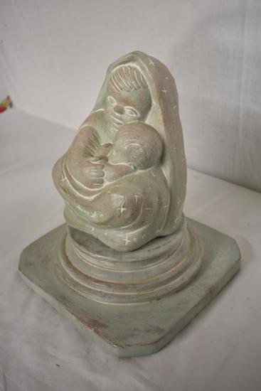 """""""Madonna"""" Isabel Bloom Signed Statue and Pedestal"""