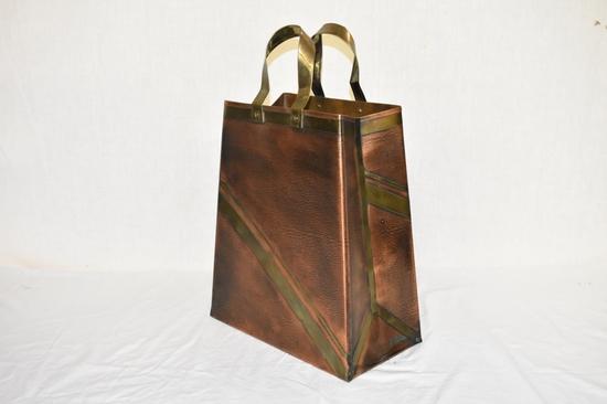 Large Copper Decorative Shopping Bag