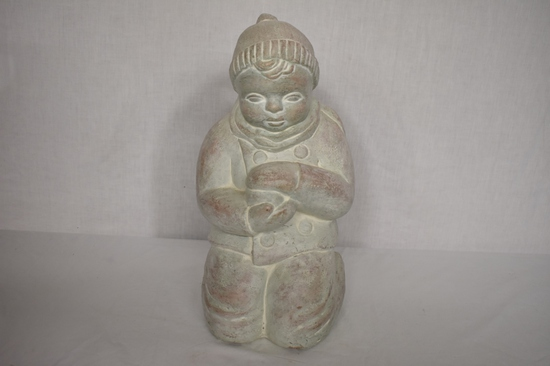 """""""Snowball Boy"""" Isabel Bloom Large Signed Statue"""