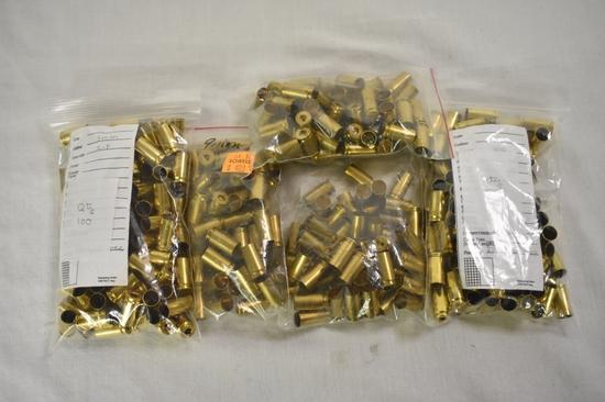 Brass. 9mm, Approximately 300 Rds. Deprimed