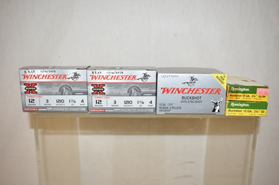 Ammo. 12 ga Buckshot. 45 Rds.
