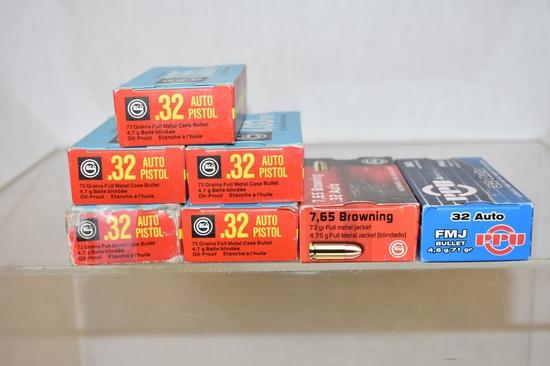 Ammo. 32 Auto / 7.65.  345 Rds.