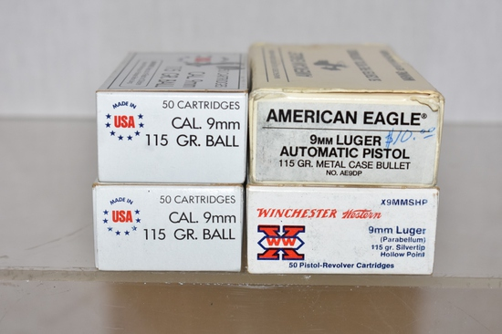 Ammo. 9 mm. 200 Rds
