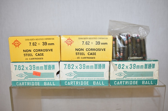Ammo. 7.62mm x 39. 120 Rds