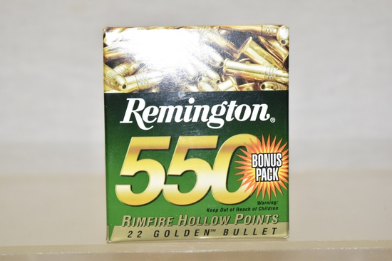 Ammo. 22 LR. Hollow Point. 550 Rds