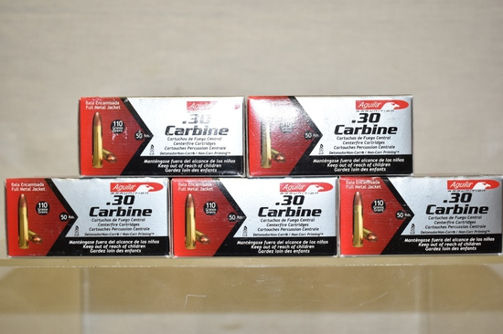 Ammo. 30 Carbine. 250 Rds