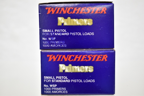 Small Pistol Primmers. 2000 Total