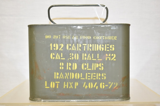 Ammo. 30 Ball M2. 8 Rd Clips In Bandoleers 192 Rds