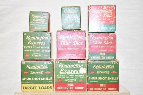Collectible Ammo Boxes Only. 12, 16, 20 & 410 GA