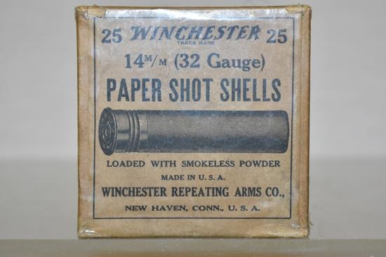 Collectible Ammo 32 GA 25 Paper Shot Shells