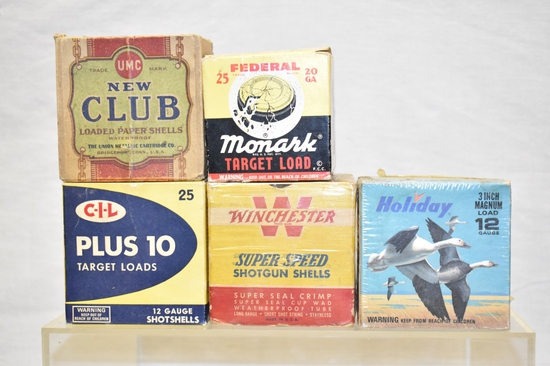 Collectible Ammo Boxes Only. 12 & 20 GA