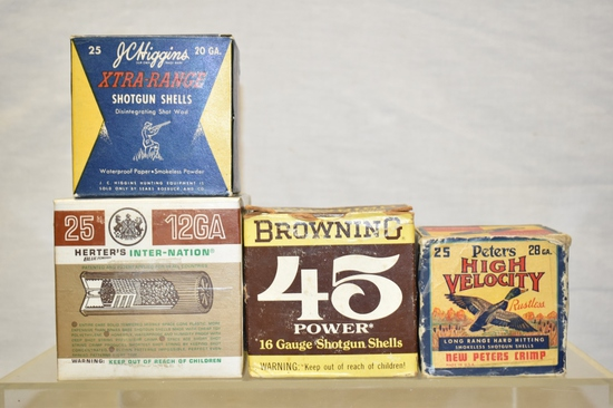 Collectible Ammo, 12, 16, 24 & 20 GA. Approx. 100 Rds