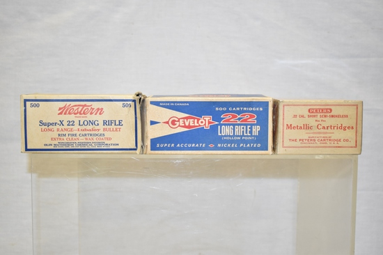 Collectible 22 LR & Short Boxes Only