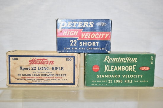 Collectible Ammo 22 LR & Short, Boxes Only