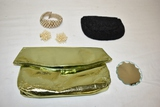 Two Vintage Clutches & Jewelry Set