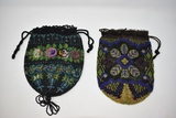 Two Floral Art Deco Flapper Beaded Purses