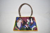 Vintage Micro Beaded  Handcrafted Scene Purse