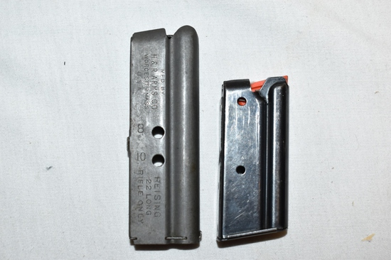 Two H&R Leatherneck 22 cal Magazines