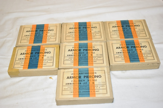 Ammo. 30-06 Cal Armor Piercing 140 Rnds