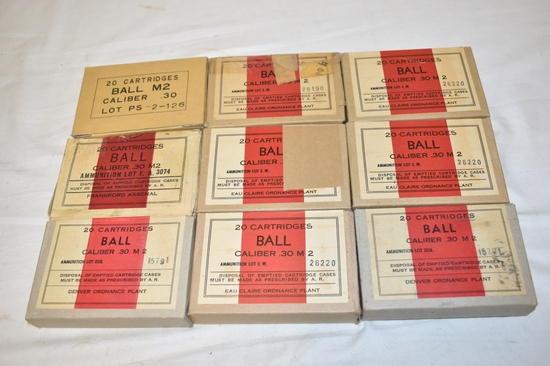 Ammo. 30-06 Ball 180 Rnds