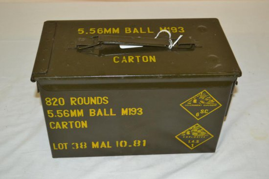 Ammo. Sealed Ammo Can 5.56mm Ball M193