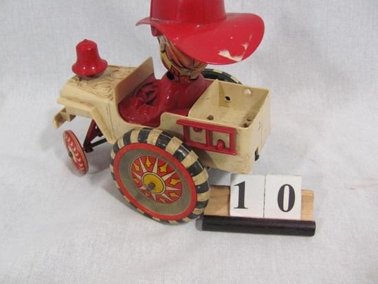 1 in lot, MARX Fire Chief Jeep hard plastic jeep with tin wheels, tin head