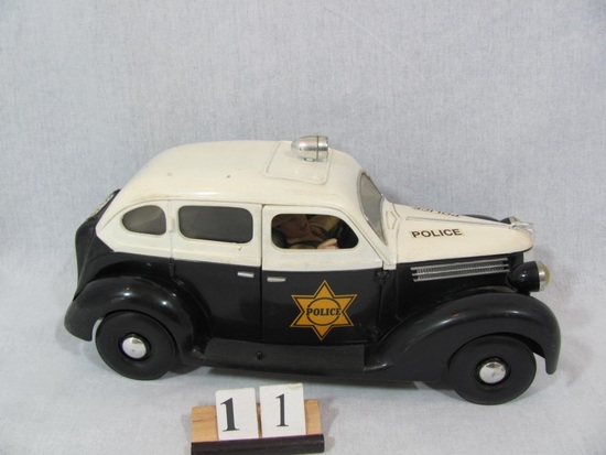 """1 in lot, Police Car 12"""" Hard plastic police car with headlights and top li"""