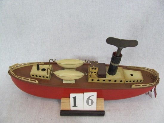 1 in lot, Tin Oceanliner Made in  US zone Germany, two detachable lifeboats