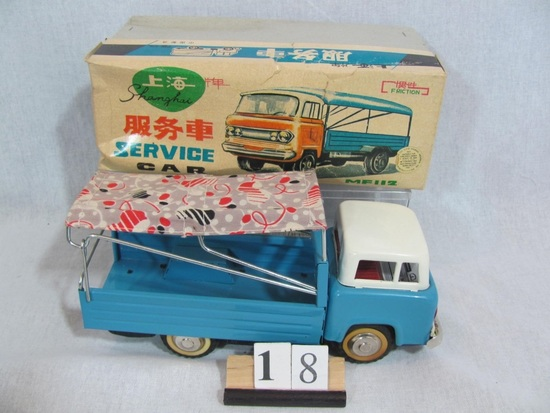 1 in lot, Shanghai Service Car boxed friction car,  made in China, model #M