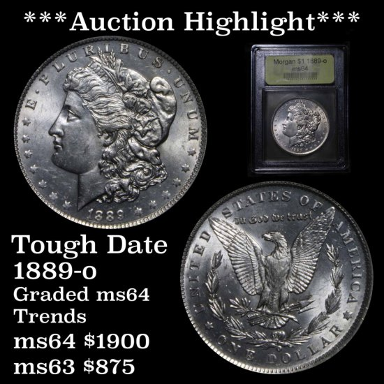 ***Auction Highlight*** 1889-o Morgan Dollar $1 Graded Choice Unc By USCG MS BU (fc)