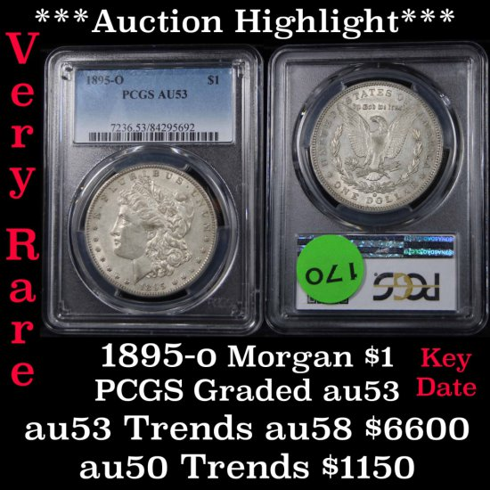 ***Auction Highlight*** PCGS 1895-o Morgan dollar $1 Graded au53 by PCGS (fc)