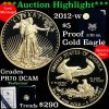 2012-w Proof Gold Eagle Five Dollars $5 Grades pr70dcam, Perfection (fc)