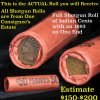 Shotgun Roll of Indian Cents from Consignee's Estate. Actual roll pictured is the roll you will get