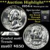 ***Auction Highlight*** GEM++ 1954-s Washington Quarter 25c Spectacular Luster Graded GEM++ Unc By U