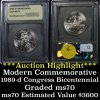 ***Auction Highlight*** 1989-d Congressional Modern Commem 50c Graded ms70, Perfection by USCG (fc)