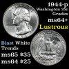 1944-p Washington Quarter 25c Grades Choice+ Unc