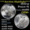 ***Auction Highlight*** 1922-p Peace Dollar $1 Grades GEM+ Unc (fc)