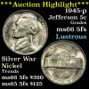 ***Auction Highlight*** 1945-p Jefferson Nickel 5c ultra clean Grades GEM+ 5fs blazing luster (fc)