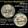 ***Auction Highlight*** 1943-s Jefferson Nickel 5c blazing luster Grades GEM++ 6fs ultra clean (fc)