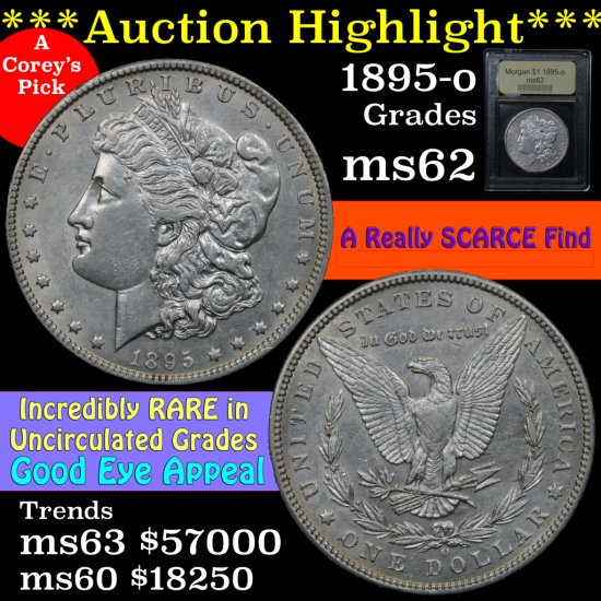 ***Auction Highlight*** 1895-o Morgan Dollar $1 Graded Select Unc by USCG.