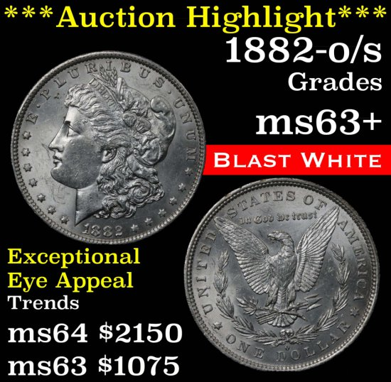 ***Auction Highlight*** 1882-o/s Morgan Dollar $1 Grades Select+ Unc (fc)