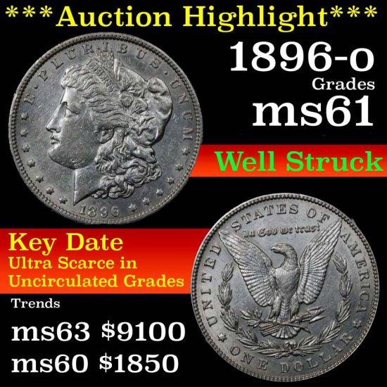 1896-o Morgan Dollar $1 Grades Brilliant Unc+