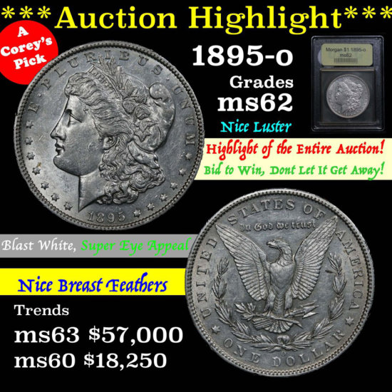 ***Auction Highlight*** 1895-o Morgan Dollar $1 Graded Select Unc by USCG (fc)