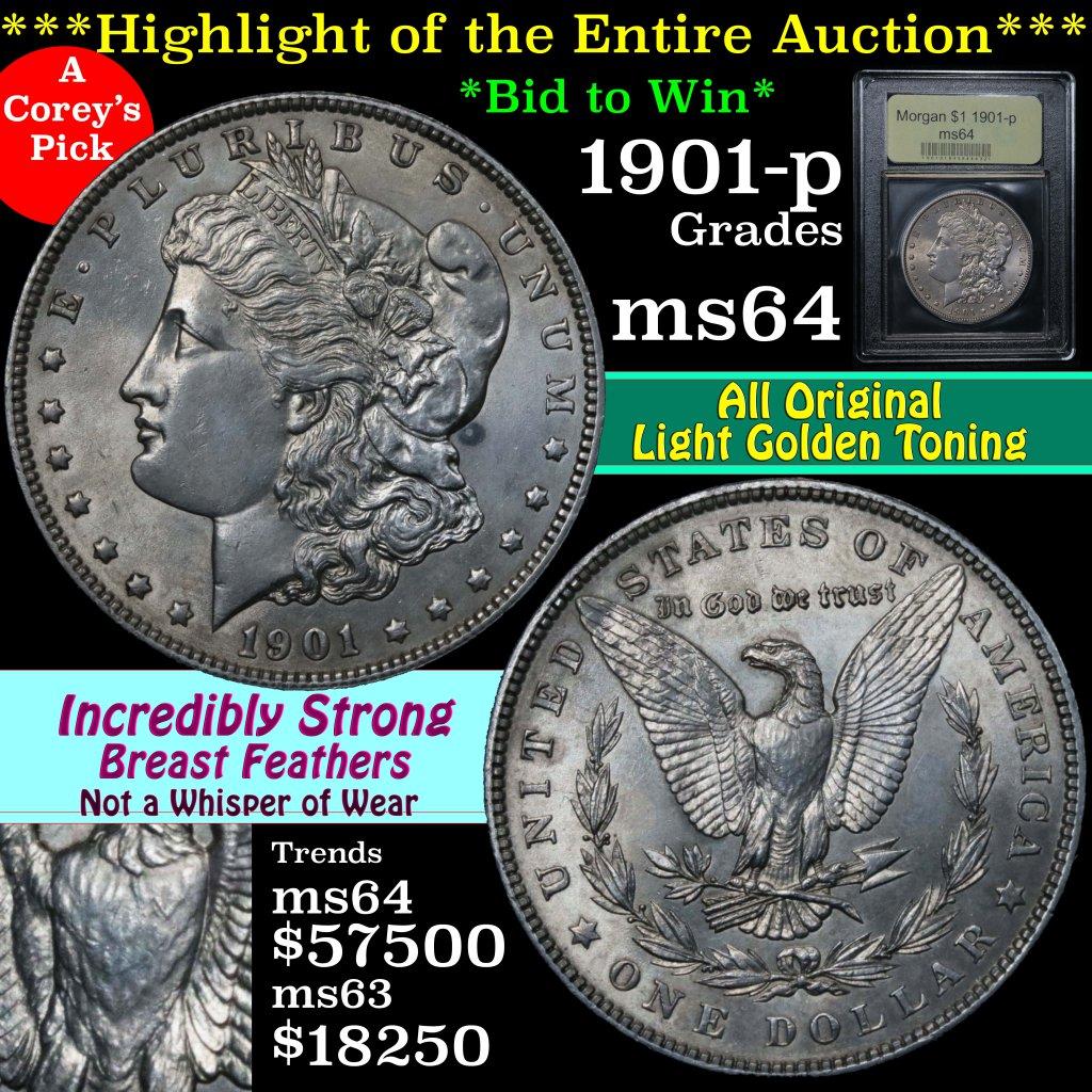 ***Auction Highlight*** 1901-p Morgan Dollar $1 Graded Choice Unc by USCG (fc)