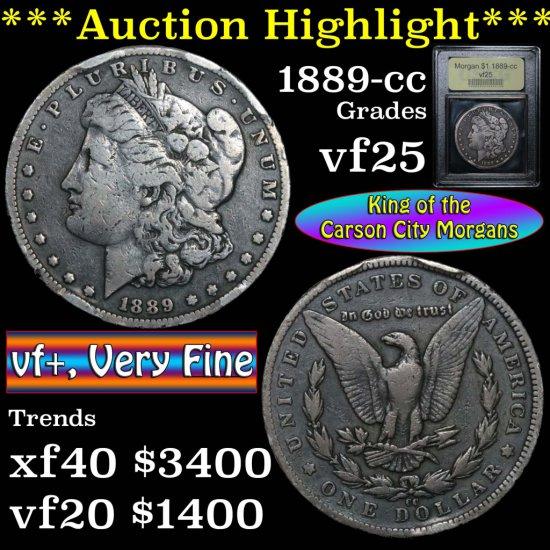 ***Auction Highlight*** 1889-cc Morgan Dollar $1 Graded vf+ by USCG (fc)