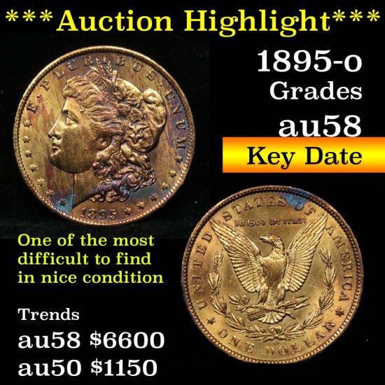 ***Auction Highlight*** Key date 1895-o Morgan Dollar $1 Grades Choice AU/BU Slider (fc)